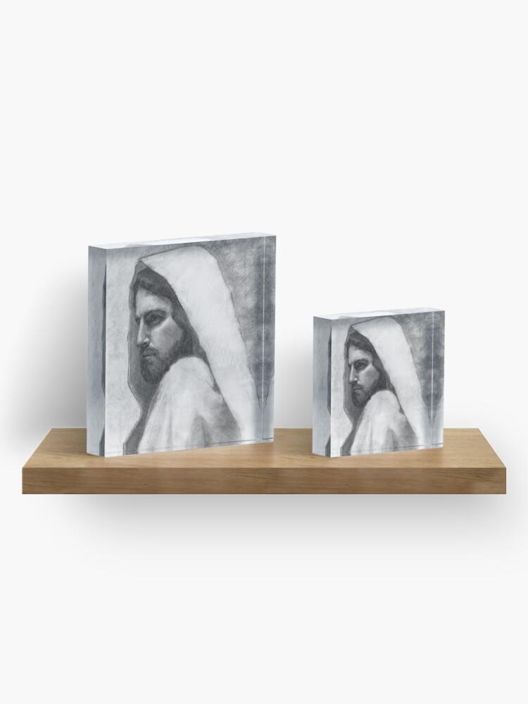 Alternate view of Savior Jesus Christ Acrylic Block