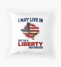 I MAY LIVE In Texas but I am a Liberty Fan Forever white shirt Floor Pillow