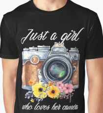 Just a girl who loves her camera Photographer TShirt Graphic T-Shirt