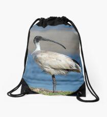 Australian White Ibis 06158 Drawstring Bag