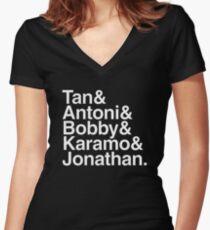 queer eye Women's Fitted V-Neck T-Shirt