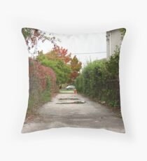 Autumn footsteps Throw Pillow