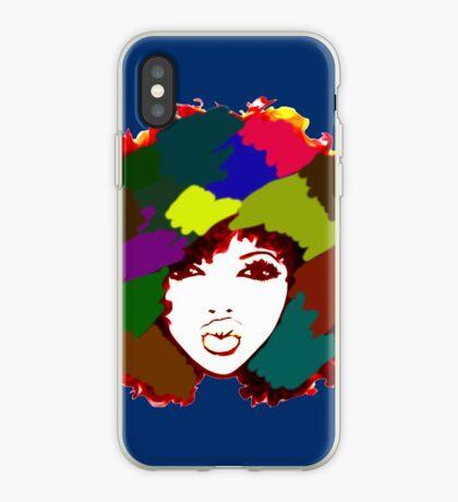 Gelocktes Regenbogen-Haar-Mädchen-gelocktes natürliches Haar iPhone-Hülle & Cover