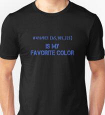 Blue Is My Favorite Color Hex Code RGB Programmierer Grafiker Designer Nerd Funny Unisex T-Shirt