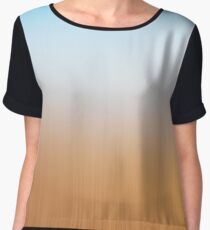 Light abstract gradient motion blurred background. Colorful lines texture wallpaper Chiffon Top