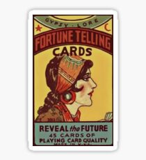 Fortune telling card Sticker