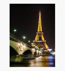 Paris Eiffel Tower Photographic Print