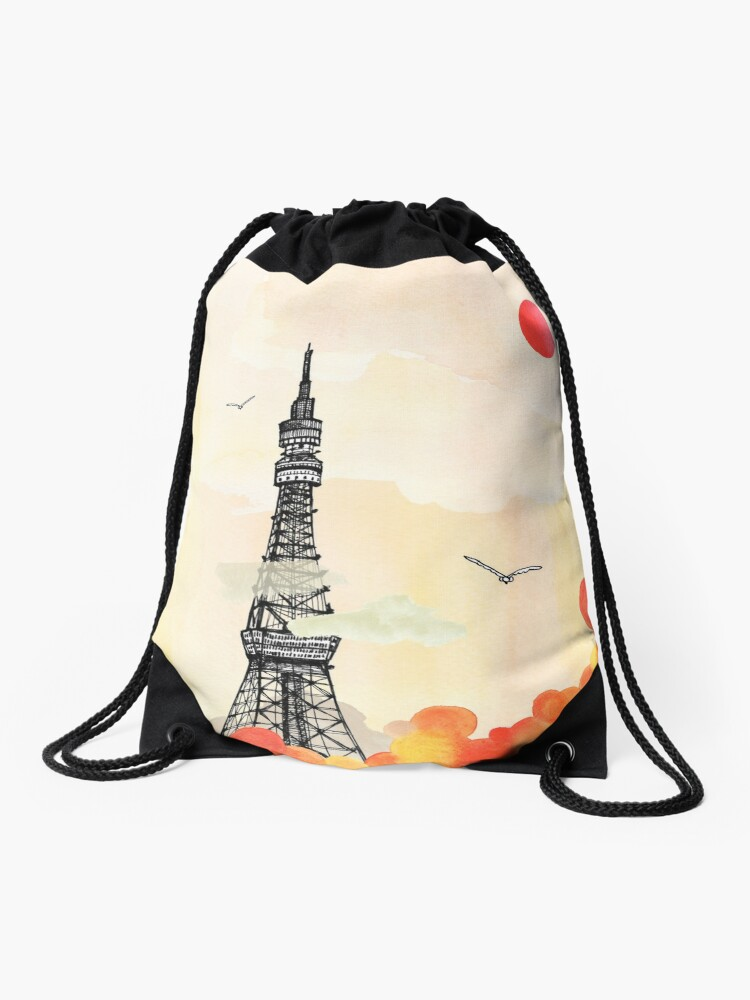 Drawstring Backpack Flag Of Japan Rucksack