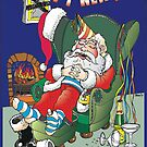 New Year Santa by Ken Tregoning