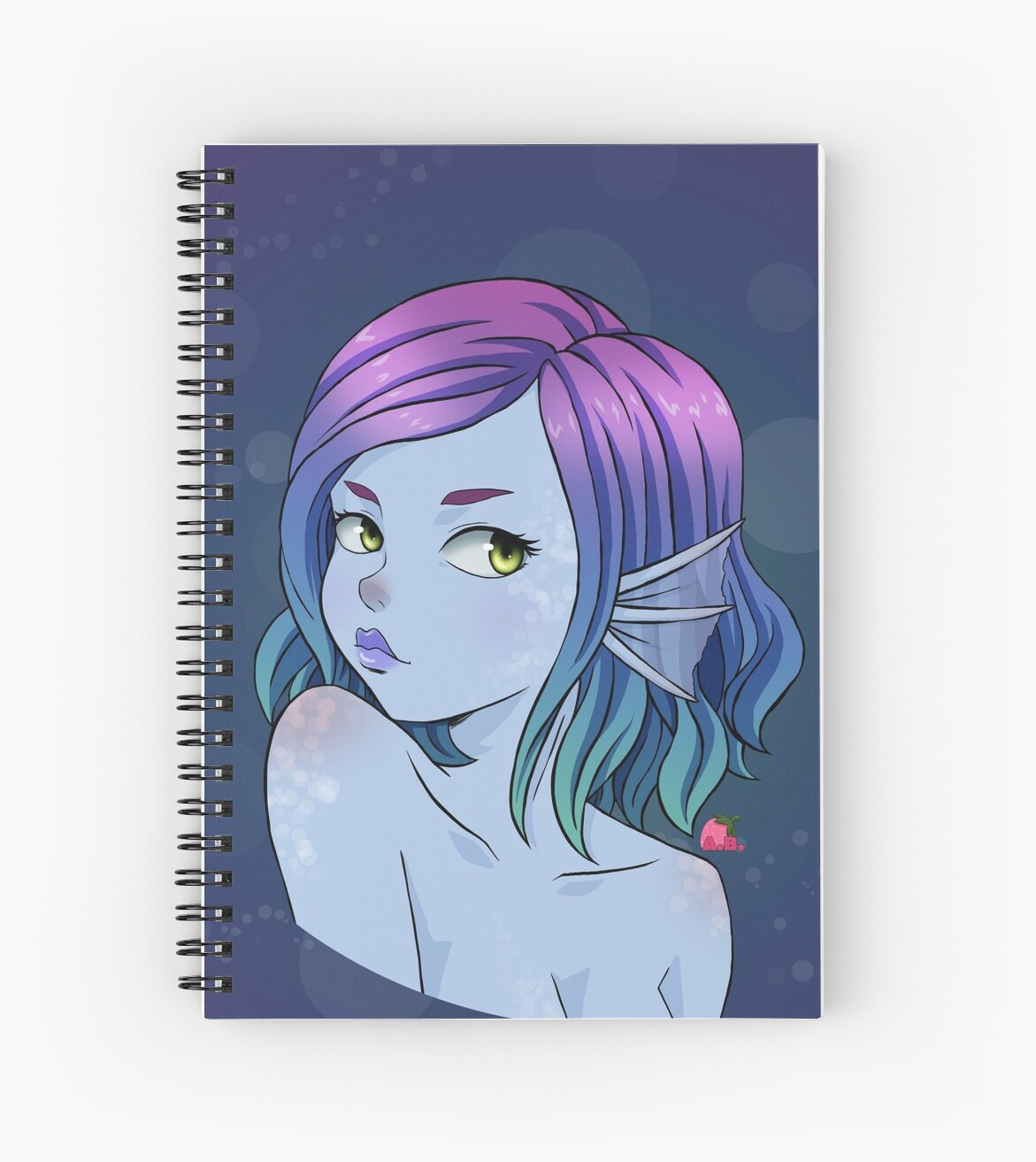 Anime Alien Girl 'sexy anime alien girl' spiral notebookamy baldwyn