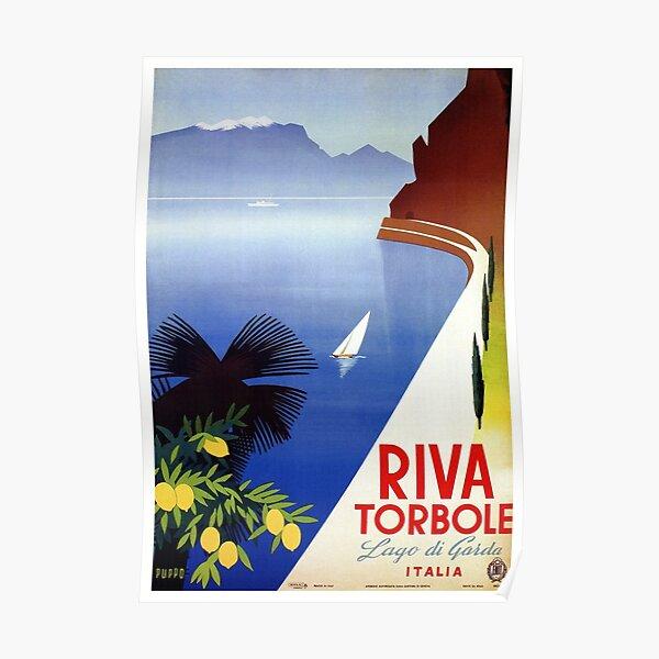 Travel Italy 1920s Lake Garda Riva Torbole Gardesana advert Poster