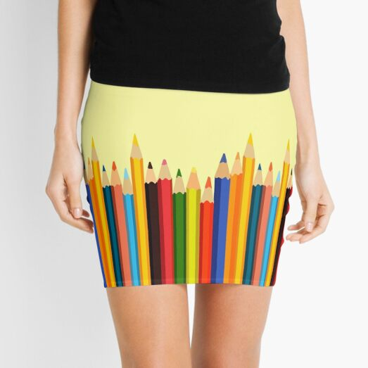 Pencils Mini Skirt
