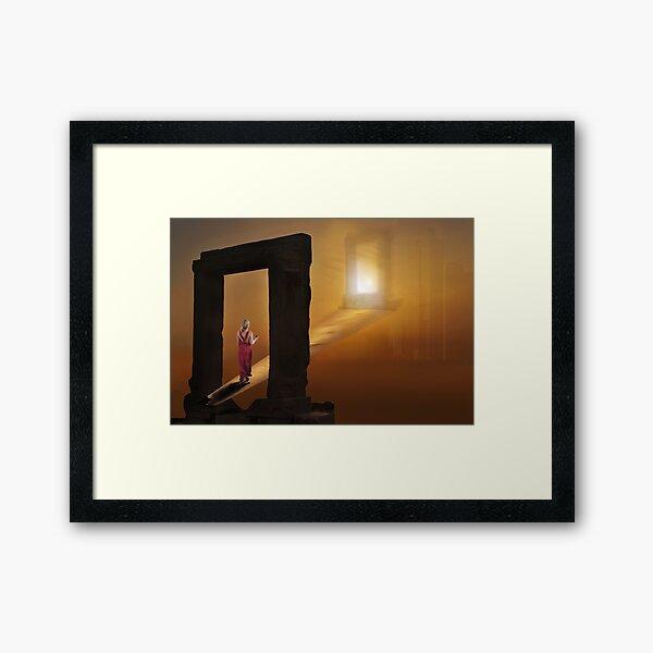 Beyond the Portal Framed Art Print