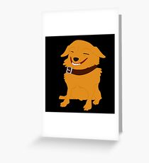 The grinning dog Greeting Card