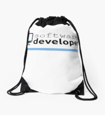 Software Developer Drawstring Bag