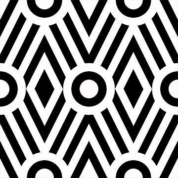 Retro style geometric pattern by alijun