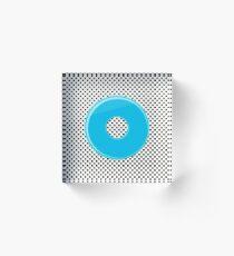 Blue bubble gum blot. Acrylic Block