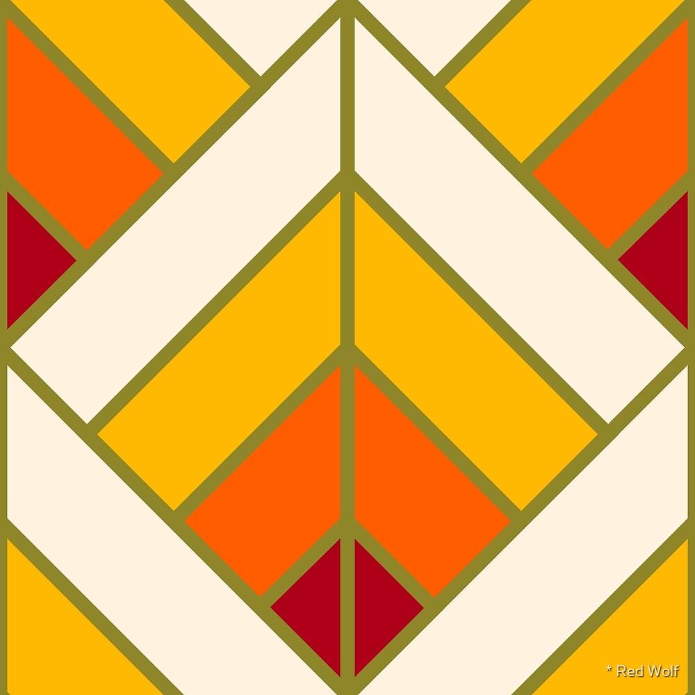 Geometric Pattern: Art Deco Diamond: Sunset by * Red Wolf