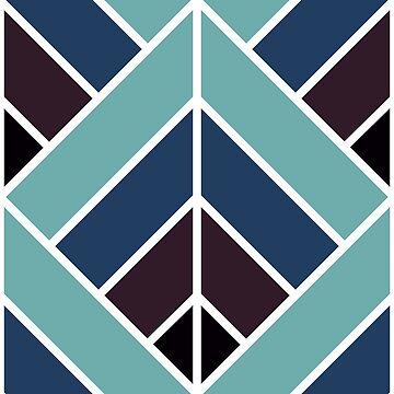 Geometric Pattern: Art Deco Diamond: Midnight by redwolfoz