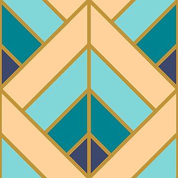Geometric Pattern: Art Deco Diamond: Dream by redwolfoz