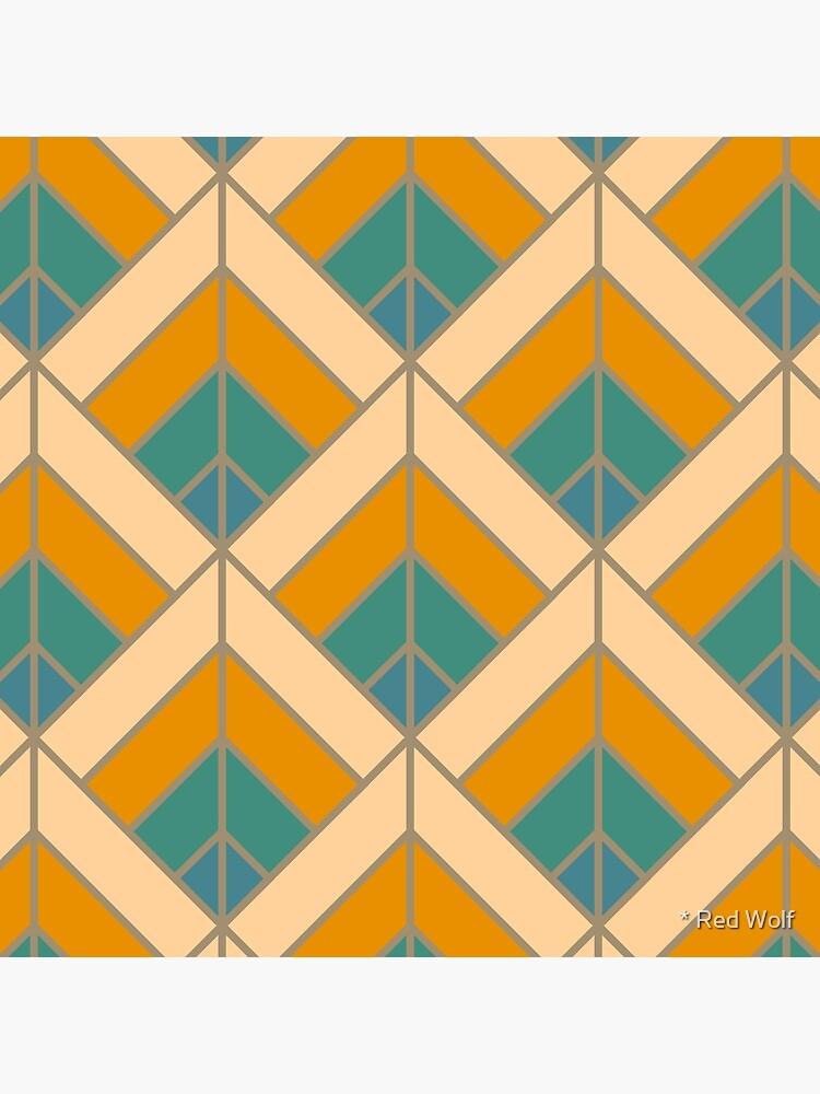 Geometric Pattern: Art Deco Diamond: Lily by redwolfoz