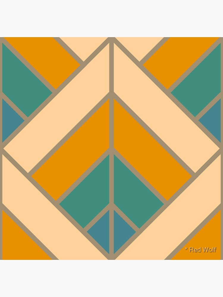 Geometric Pattern: Art Deco Diamond: Lily by redwolfoz