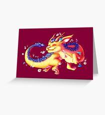 Origami dragon Greeting Card