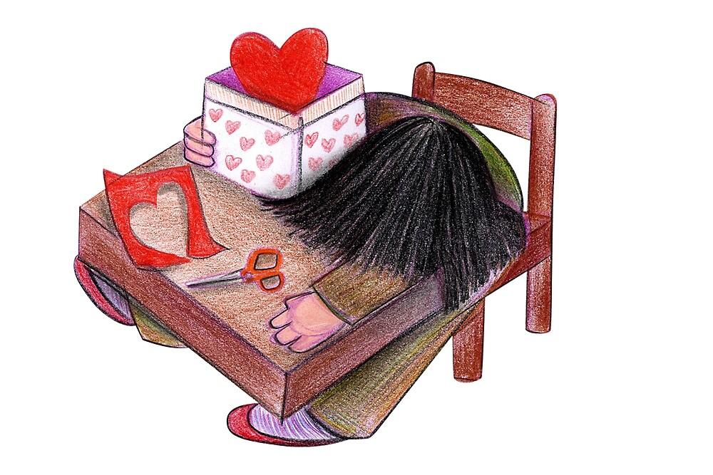Love in box by Luca Mesini
