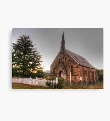Hill End church Canvas Print