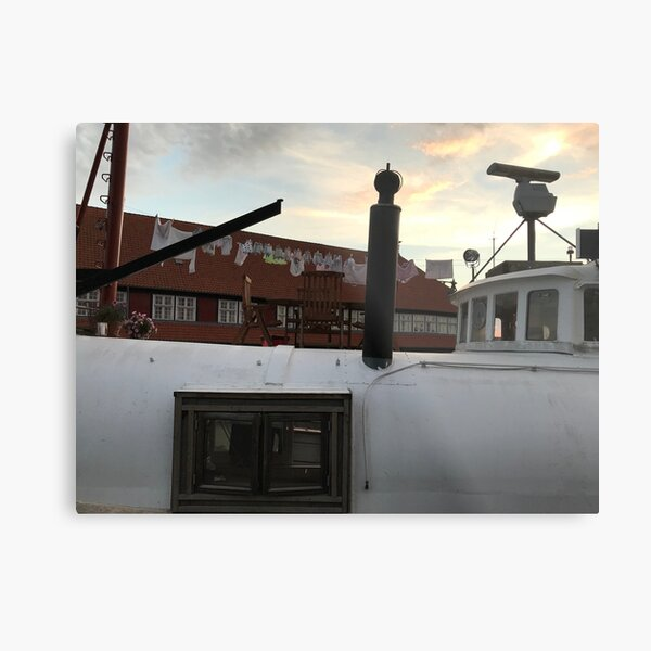 Laundry on a House Boat Metal Print