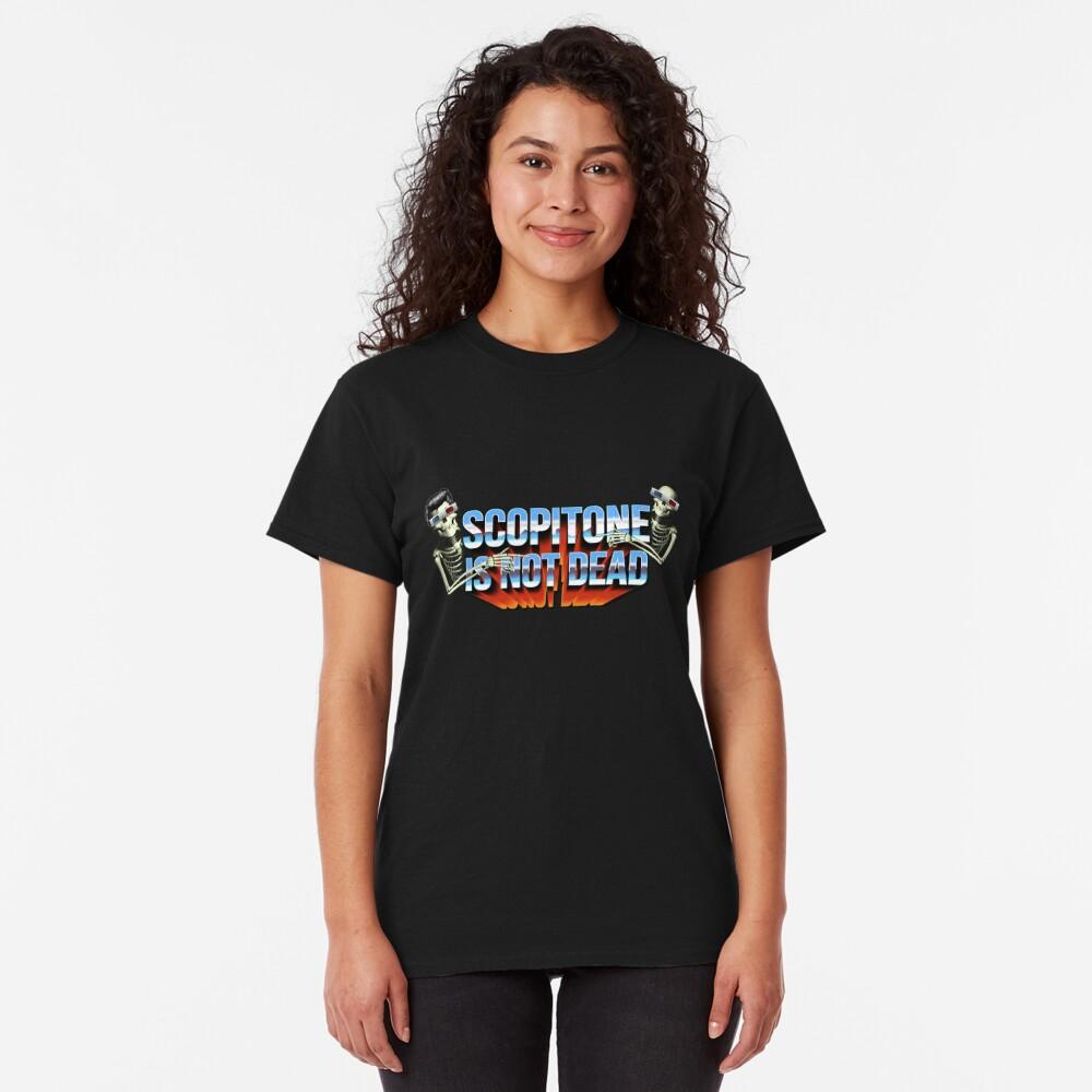 T-shirt classique «SCOPITONE IS NOT DEAD»