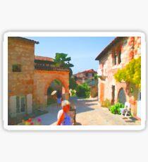 Southern France Village Centre Sticker