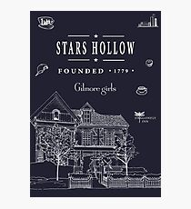 Stars Hollow Collage Photographic Print