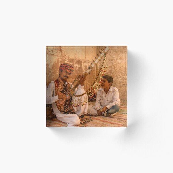 Mehrangarh Musician Acrylic Block