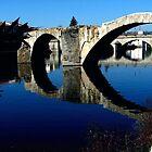 Ancient Bridge, Tournon. by hanspeder