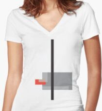 Abstract#25 Women's Fitted V-Neck T-Shirt