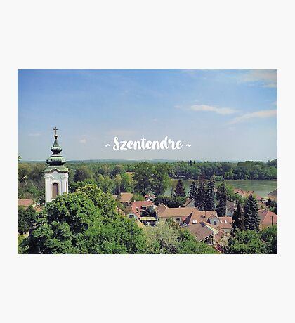 View of Szentendre in Hungary Photographic Print