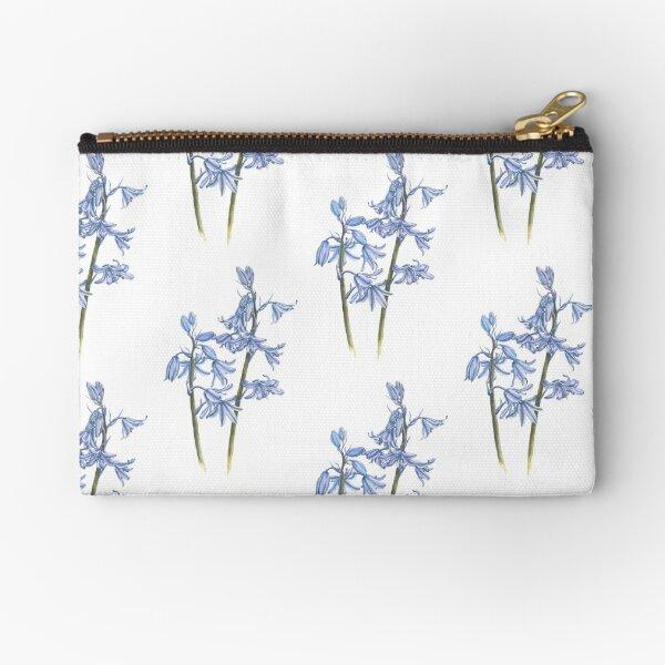Bluebell Watercolour Zipper Pouch