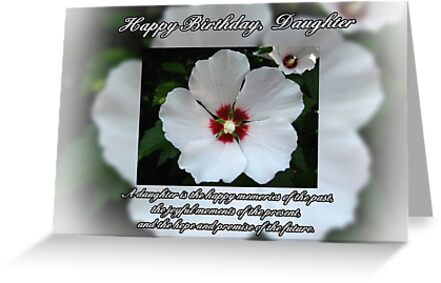 Daughter Birthday Greeting Cards By Tracy DeVore