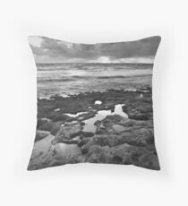July 19 - Marmion Marine Park (Black and White) Throw Pillow