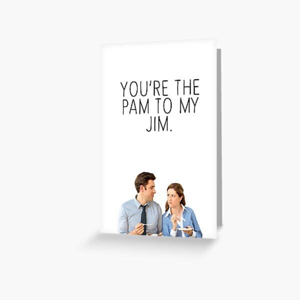 JIM/PAM. Greeting Card