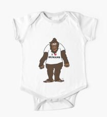 Funny Bigfoot With I Love Humans TShirt For Humanist One Piece - Short Sleeve
