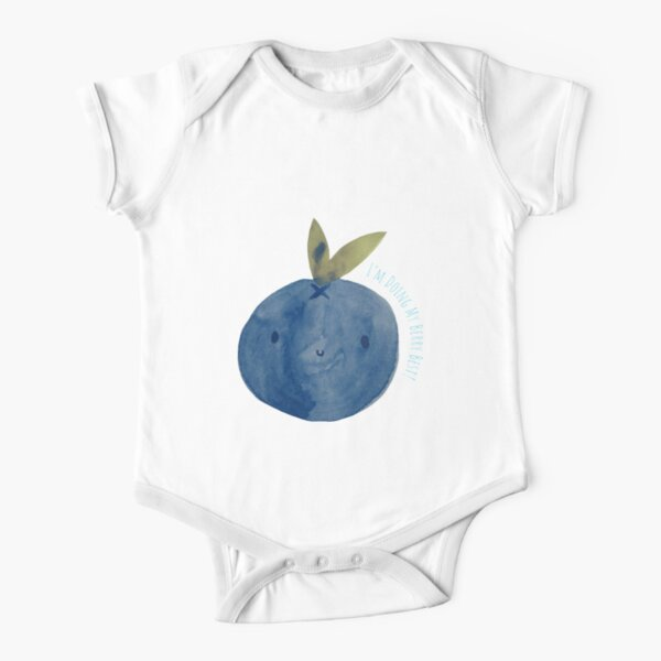 Punny Blueberry Short Sleeve Baby One-Piece