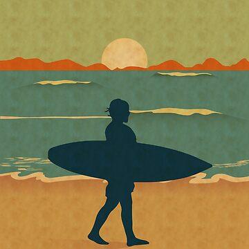 'Surfer' Cool  Surfing Surfboard  by leyogi