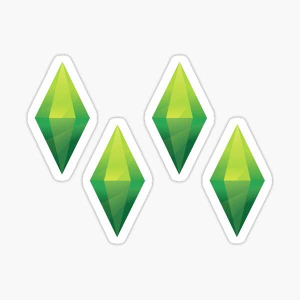 4 Plumbob stickers Sticker