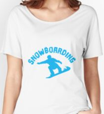 Snowboarding Women's Relaxed Fit T-Shirt