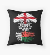 English Grown With Malagasy Roots Gift For Malagasy From Madagascar - Madagascar Flag in Roots Floor Pillow
