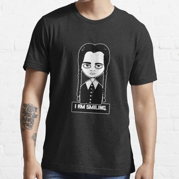 Wednesday Adams I am Smiling - I laugh, this is my face Essential T-Shirt