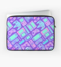 Video Game Controllers in Cool Colors Laptop Sleeve