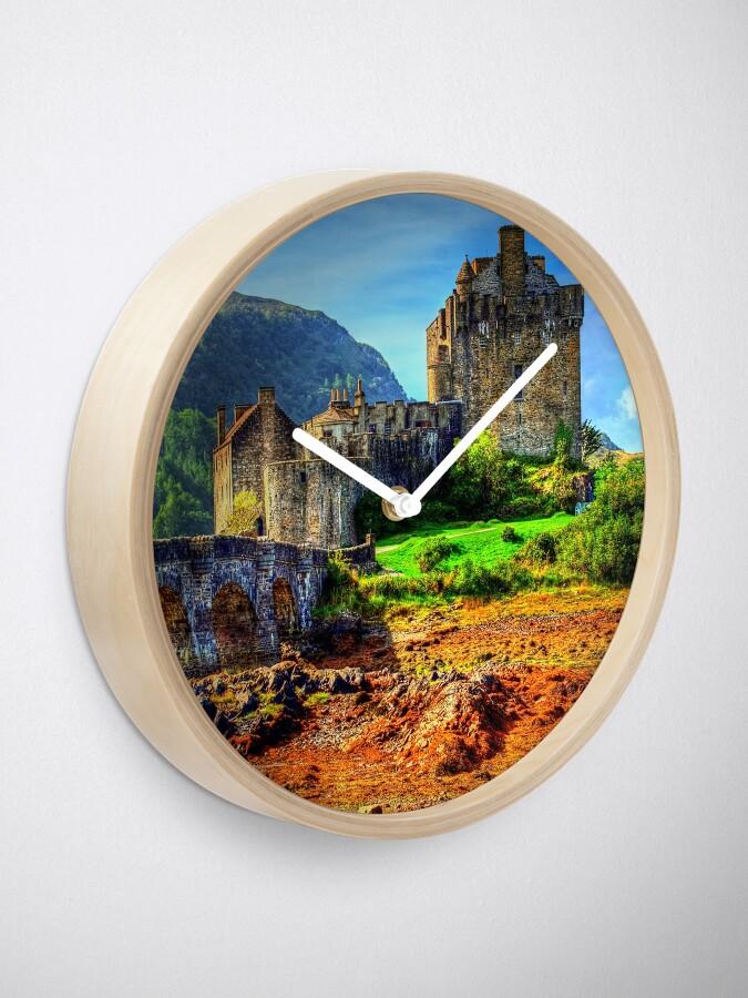 Alternate view of Eilean Donan Castle Clock